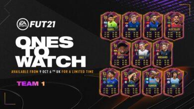 FIFA 21: OTW Team 1 - Se anuncian las tarjetas Ones To Watch