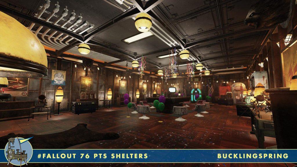 Barra de fiestas de Fallout 76 Shelters