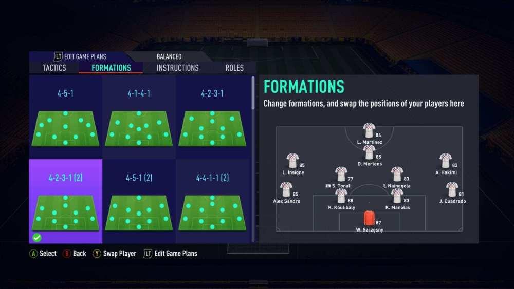Tácticas personalizadas de FIFA 21