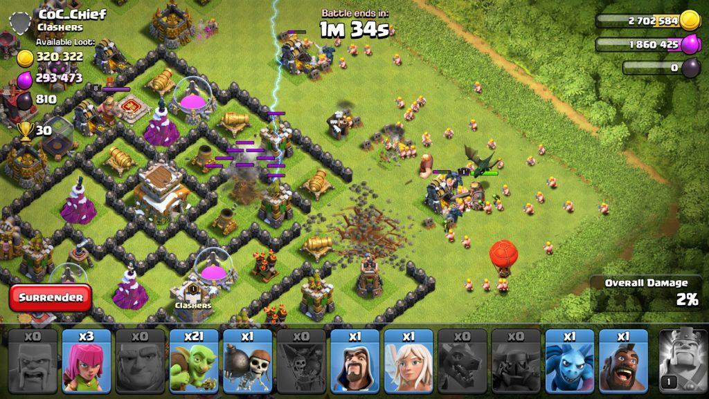 captura de pantalla de clash of clans