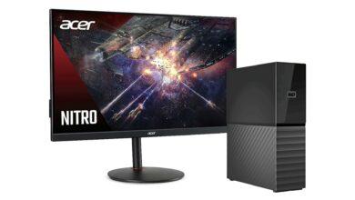 eBay: monitor de juegos Acer al mejor precio y disco duro externo de 12 TB reducido
