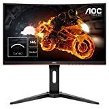 AOC Gaming C24G1 monitor curvo de 59,9 cm (23,6 pulgadas) (FHD, HDMI, tiempo de respuesta de 1 ms, DisplayPort, 144 Hz, 1920 x 1080 píxeles, Free-Sync) negro