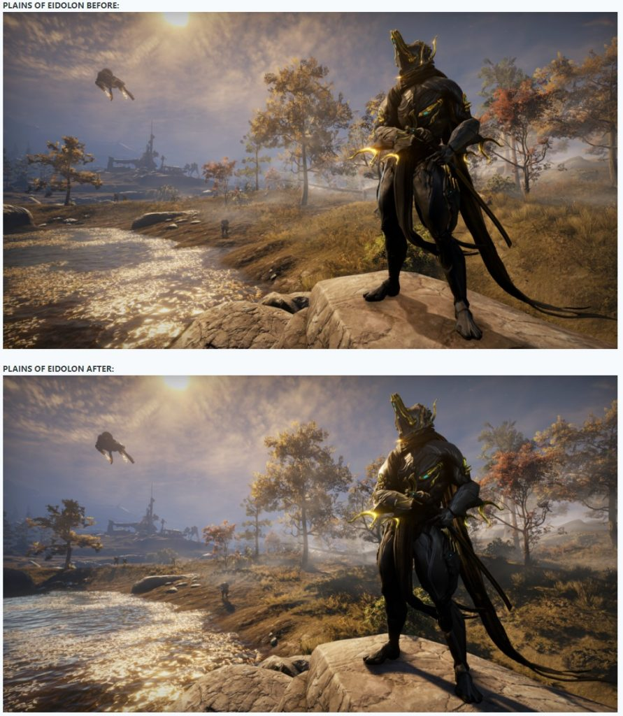 Comparación de Warframe Eidolon