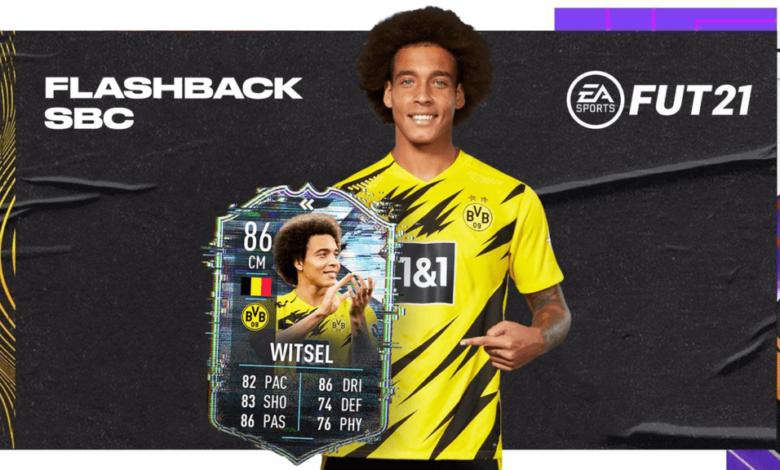 FIFA 21: Axel Witsel Flashback Era SBC - Un nuevo desafío de creación de plantillas está disponible