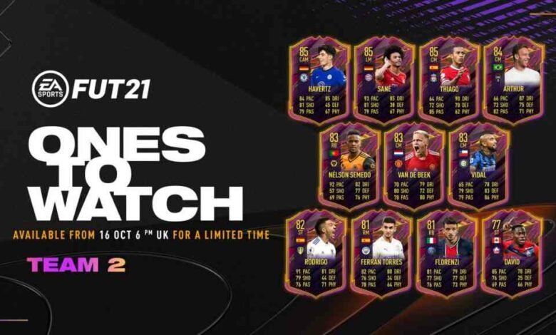 FIFA 21: OTW Team 2 - Se anuncian las tarjetas Ones To Watch
