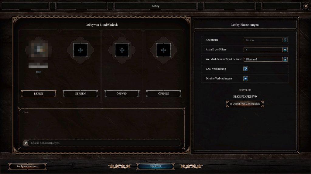 Menú multijugador de Baldur's Gate 3