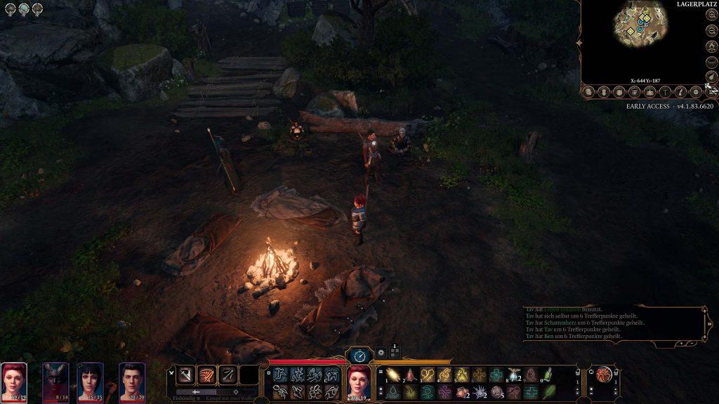 Descanso largo multijugador de Baldur's Gate 3