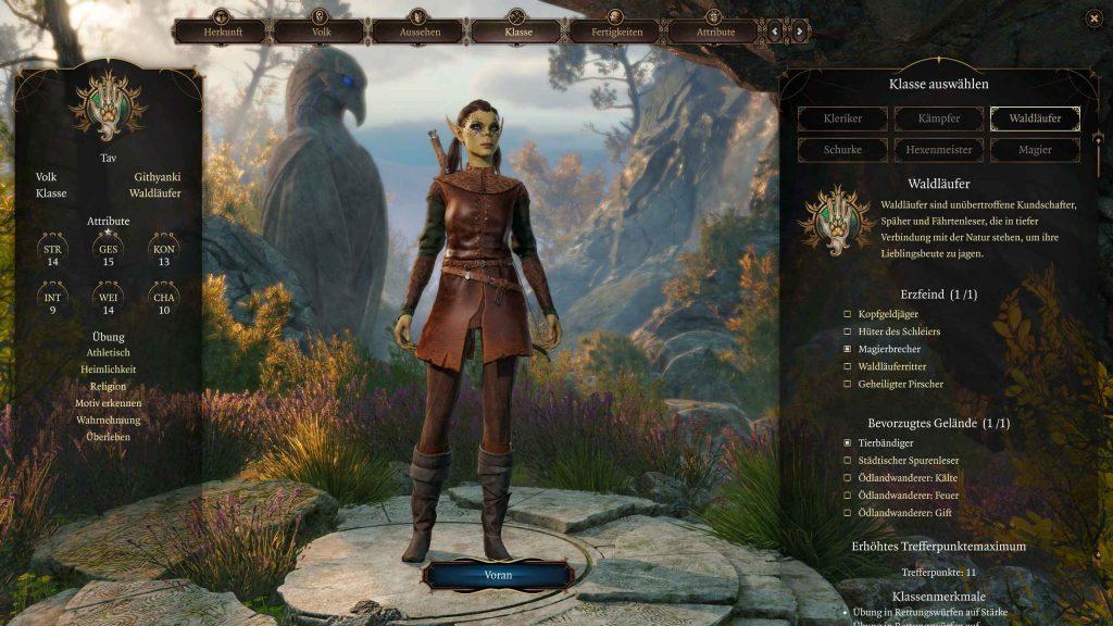 Creación de personajes de Baldur's Gate 3