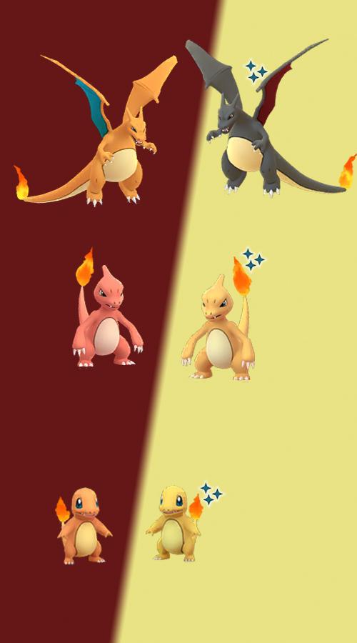 Familia Pokémon GO Shiny Charmander