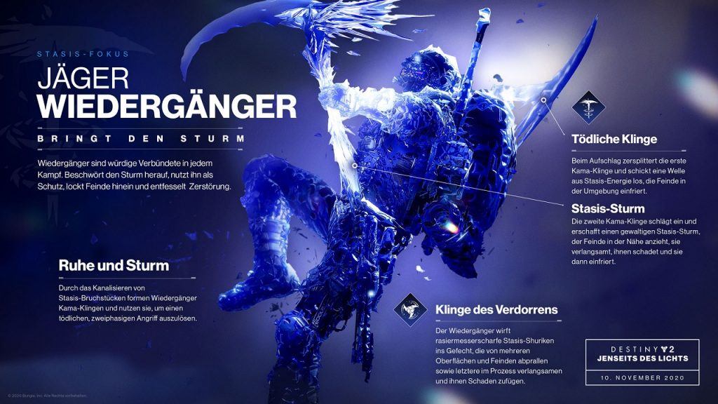 Destiny 2 Hunter Revenant Revenant Habilidades más allá de la luz