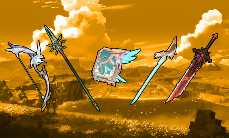 Las 10 mejores armas de Genshin Impact y lo que pueden hacer