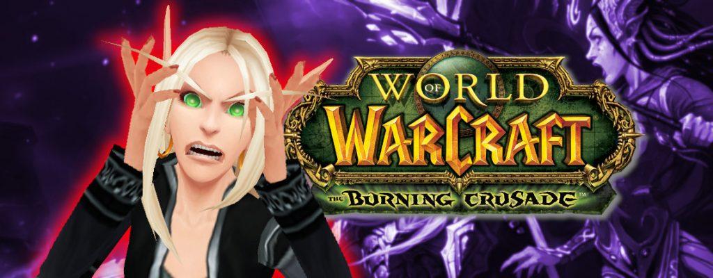 WoW Blood Elf Burning Crusade título enojado 1140x445