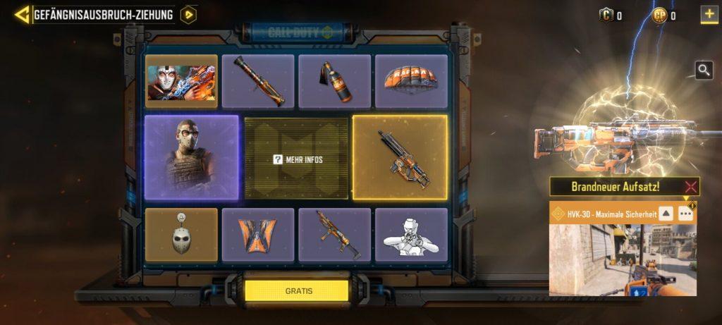 Elementos del sorteo de CoD Mobile Arsenal