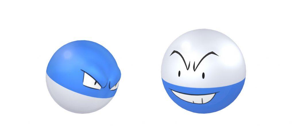 Pokémon Go shiny voltobal y lectobal