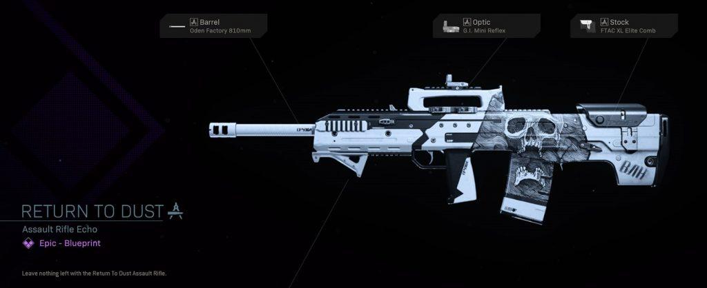 CoD Warzone Truco o trato Regresar al eco del rifle de asalto de polvo