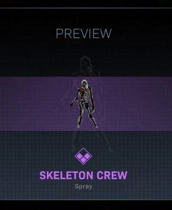 Spray de tripulación esqueleto de truco o trato de CoD Warzone