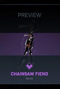 CoD Warzone Truco o trato The Chainsaw Fiend Spray
