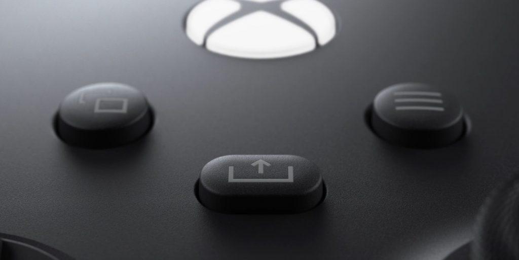 Botón de compartir del controlador Xbox