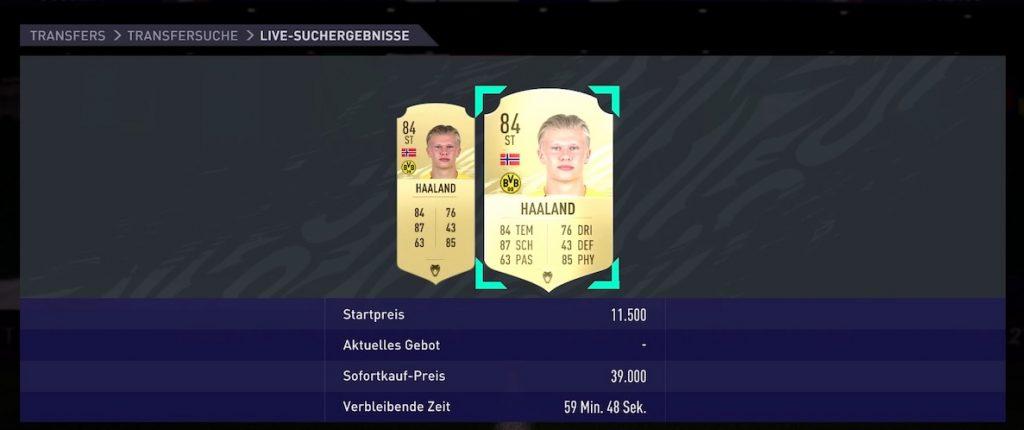 FIFA 21 Haaland precio bajo