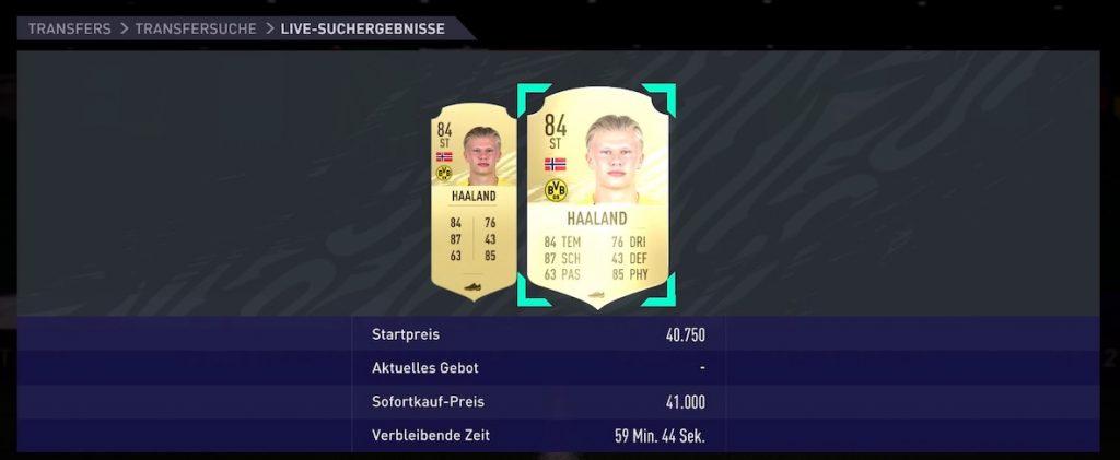 Premio Haaland de FIFA 21