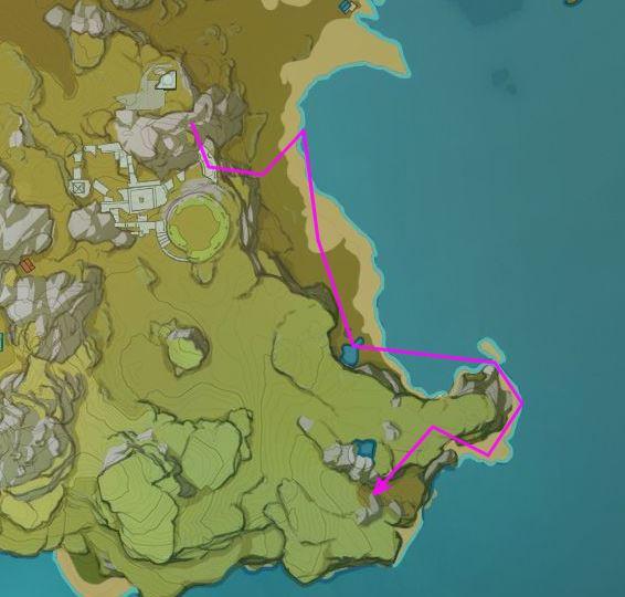 Impacto de Genshin de la ruta de los monstruos