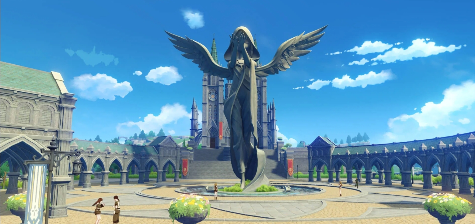 estatua de anemo de impacto genshin