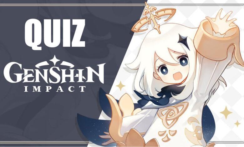 ¿Eres un profesional en Genshin Impact? Responde nuestro cuestionario