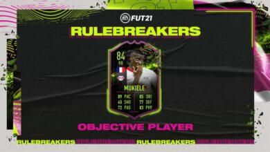 FIFA 21: Objetivos de Nordi Mukiele Rulebreakers - Nueva carta especial disponible