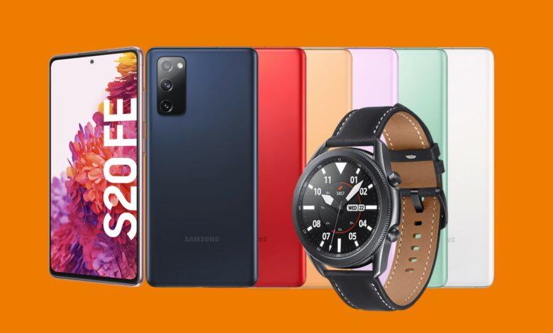 Samsung Galaxy S20 FE con Watch 3 y 40 GB LTE barato en Saturn