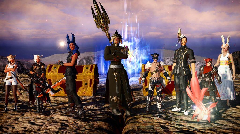 captura de pantalla de final fantasy xiv raid kill