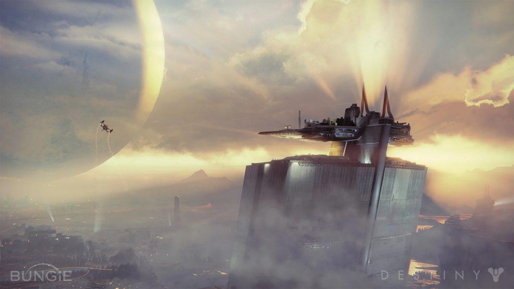 Título de Destiny del viajero de la última ciudad de la torre