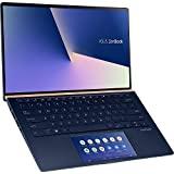 Computadora ASUS ZenBook 13 UX334FA con Screenpad 2.0 (90NB0MX1-M00410) Ultrabook de 33,7 cm (13,3 pulgadas, Full HD) (Intel Core i5-10210U, Intel UHD Graphics 620, 8GB RAM, 512GB SSD, Windows 10) royal azul