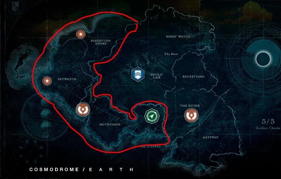 Cosmódromo Ubicación Destiny 1 Comparar Beyond Light