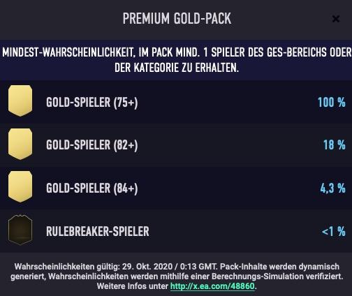 Oportunidades del paquete FIFA 21