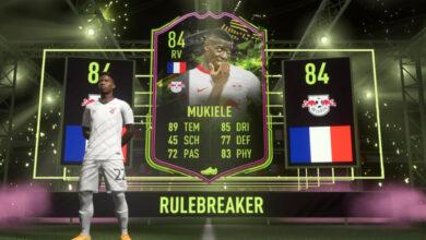 FIFA 21: Consigue Rulebreakers Mukiele sin monedas, pero date prisa