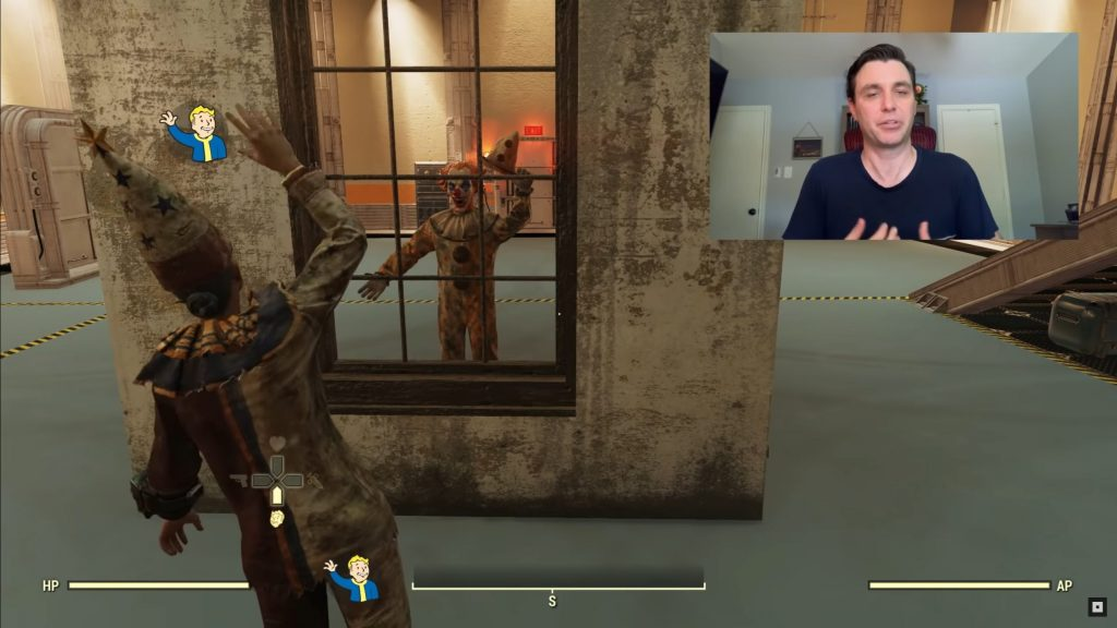 Ventana de payaso de Fallout 76 Shelter