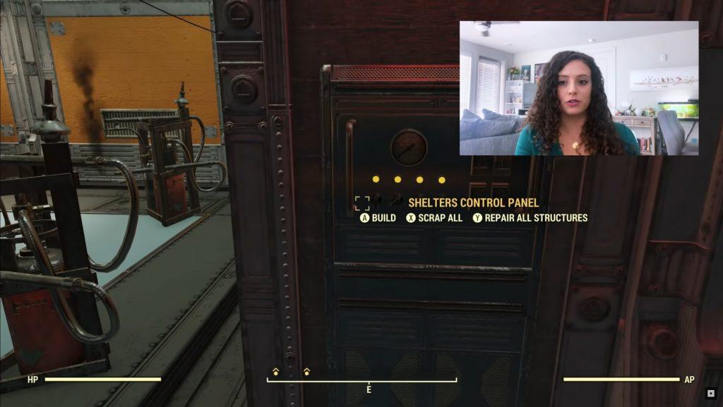 Panel de control de Fallout 76 Shelters