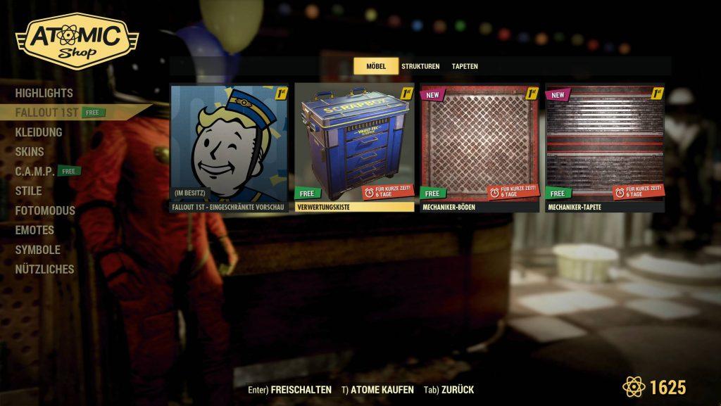 Fallout 76 Fallout 1st Tienda