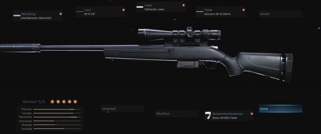 configuración de armas de zona de guerra de bacalao comparación sp-r 208 kar 98k