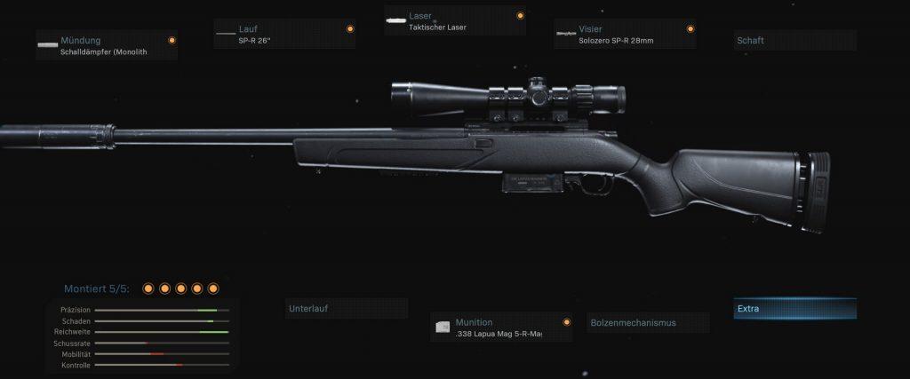 cod warzone armas sp-r 208 configuración op-sniper antes de nerf