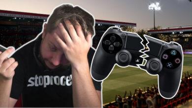 El streamer de Twitch se enoja tanto en FIFA 21 que rompe el controlador con la mano desnuda