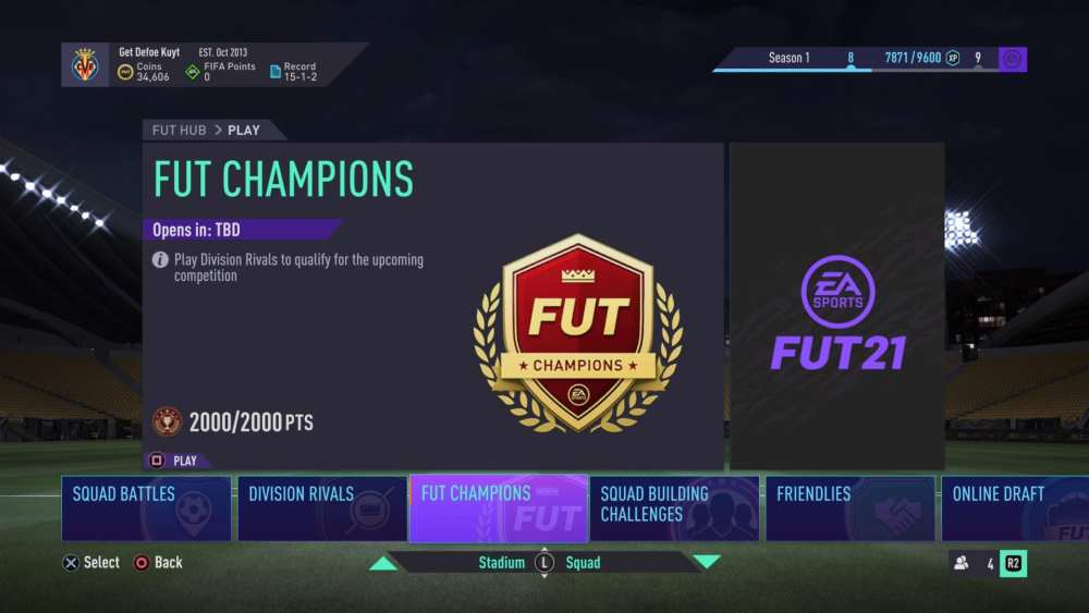 FIFA 21, puntos de clasificación para campeones de futs