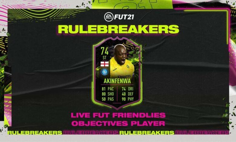 FIFA 21: Objetivos de Adebayo Akinfenwa Rulebreakers - Nueva carta especial disponible