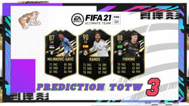 FIFA 21: Predicción TOTW 3 del modo Ultimate Team