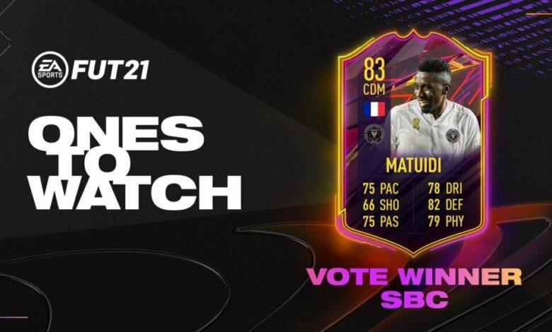 FIFA 21: SBC Blaise Matuidi OTW - Nuevo desafío de creación de plantilla disponible