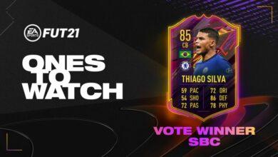 FIFA 21: SBC Thiago Silva OTW - Nuevo desafío de creación de plantilla disponible