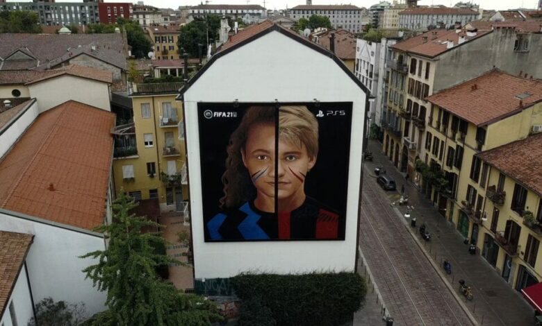 FIFA 21: Un nuevo mural de Jorit celebra al Milán y al fútbol
