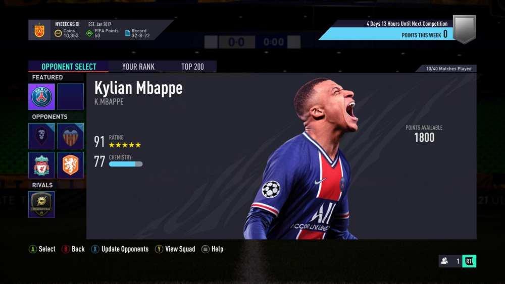 Consejos de batallas por equipos de FIFA 21