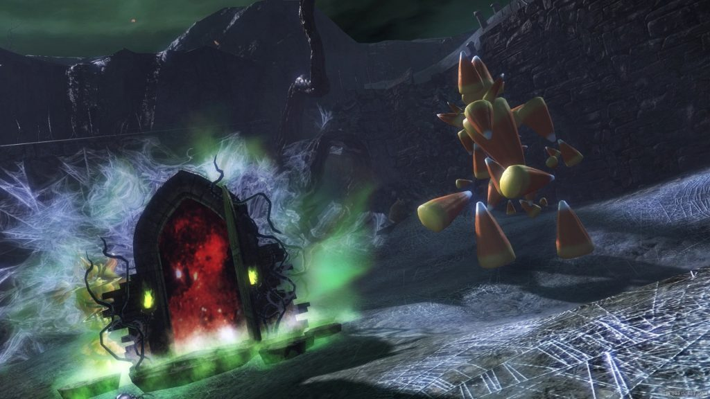 Puertas de laberinto de Halloween de Guild Wars 2