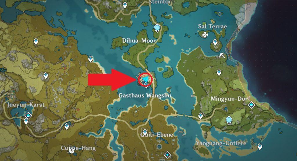 Mapa del día 5 del evento de caja de botín de impacto de Genshin